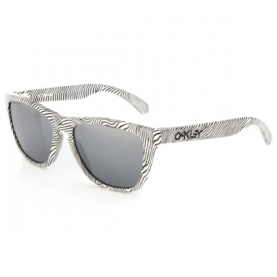 Oakley Frogskins Fingerprint Sunglasses - White with Black Iridium