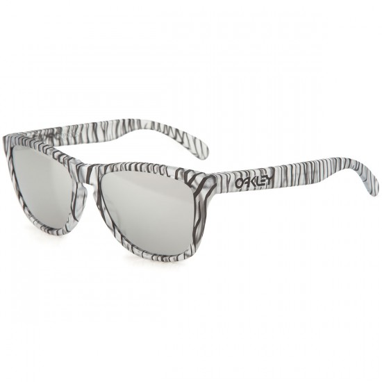 Oakley Frogskins Sunglasses - Matte Clear/Chrome Iridium