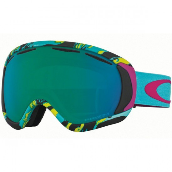 Oakley Kass Canopy Signiture Snowboard Goggles - Neon Camo with Prizm Jade