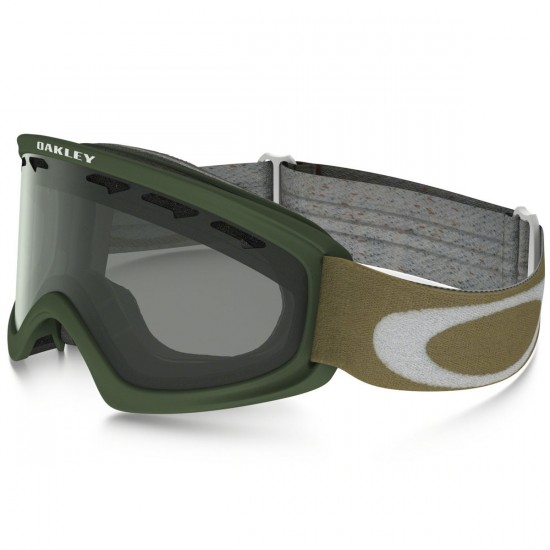 Oakley O2 XS Shady Trees Snowboard Goggles - Worn Olive with Light Grey