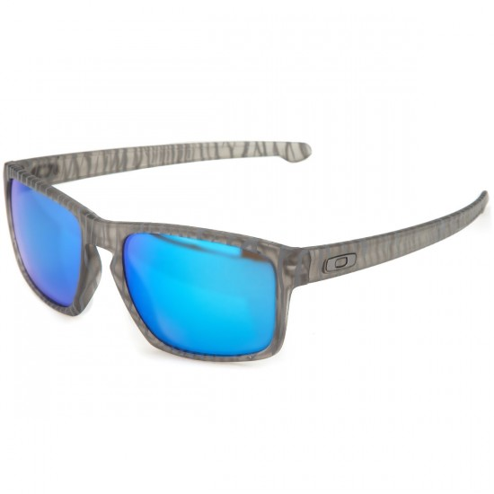 Oakley Sliver Sunglasses - Urban Jungle Matte Grey Ink/Sapphire Iridium
