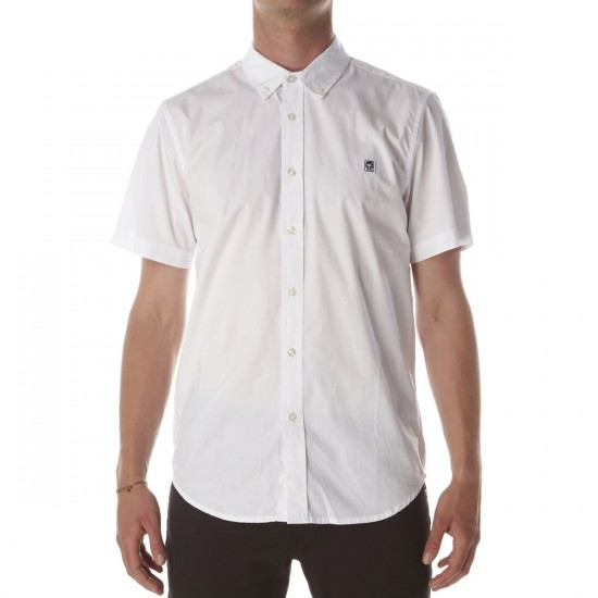 Obey Eighty Nine Poplin Woven Shirt - White