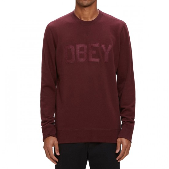 Obey North Point Crew Sweatshirt - Ox Blood