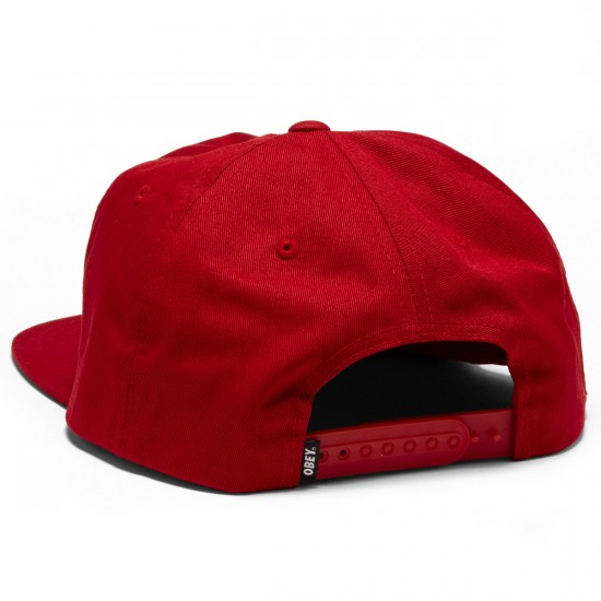 Obey Permanent Vacation Snapback Hat - Red
