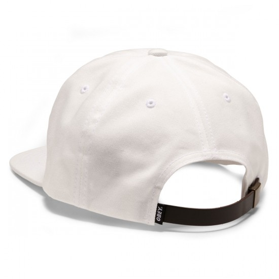 Obey Sickle Hat - White