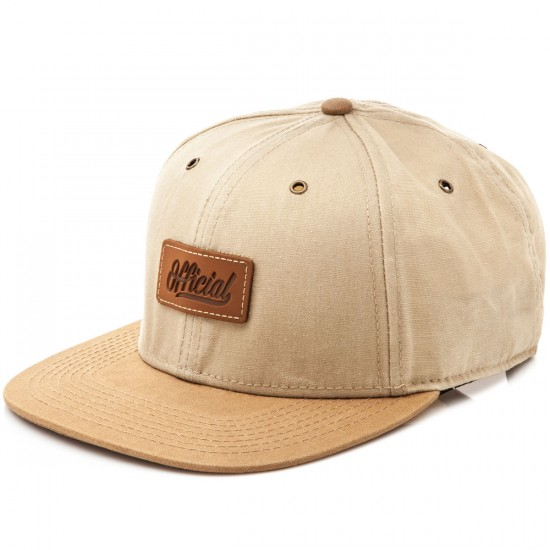 Official Jamie Tharhartt 6 Panel Strapback Hat - Natural