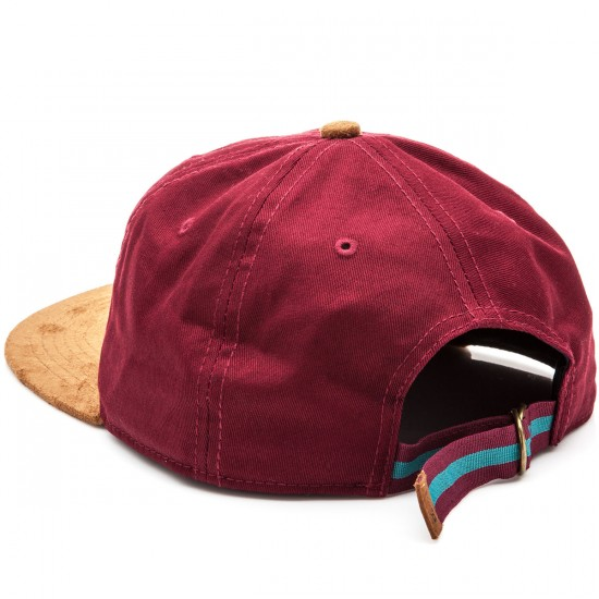 Official Janoski 6 Panel Strapback Hat - Burgundy