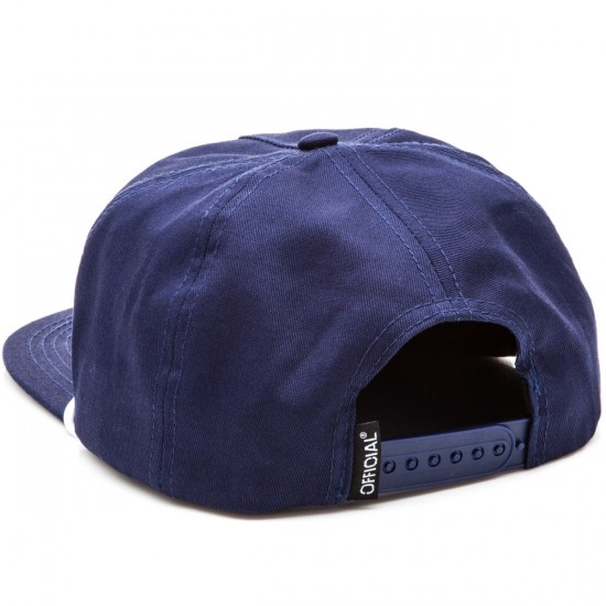 Official Quise Ops 5 Panel Strapback Hat - Navy
