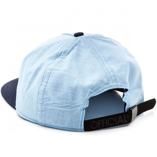 Official Skate Logo Cham 5 Panel Strapback Hat - Chambray