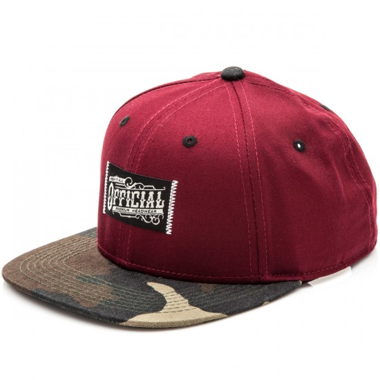 Official Workwear Camo 6 Panel Snapback Hat - Camo
