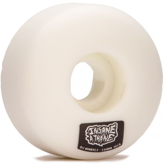 OJ Insaneathane EZ Edge 101a Skateboard Wheels - White - 56mm