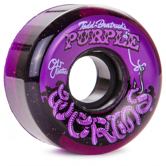 OJ Purple Worms Keyframe Skateboard Wheels - 56mm - Purple Glitter