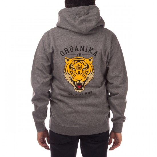Organika Tiger Face Hoodie - Grey Heather