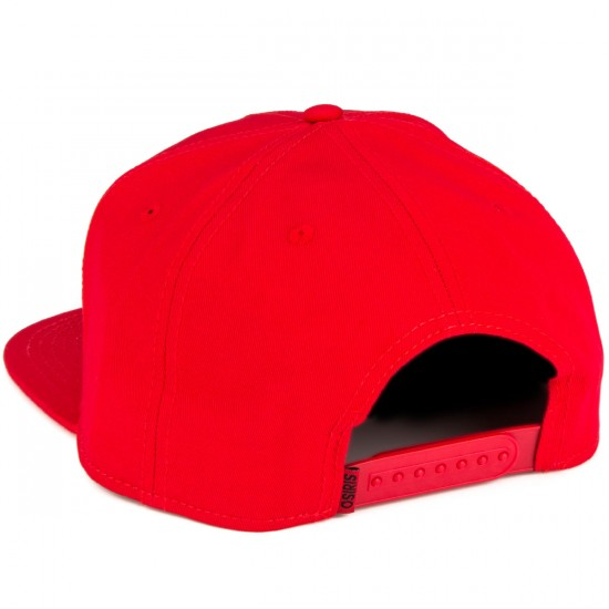 Osiris Corporate Snapback Hat - Red/Black