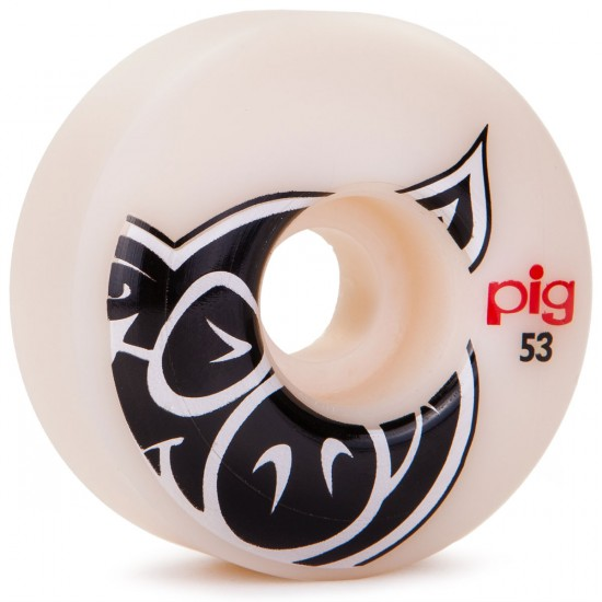 Pig Head Natural Logo Skateboard Wheels - 53mm