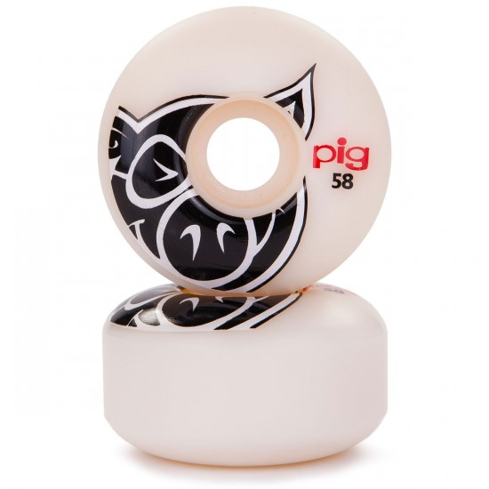 Pig Head Natural Skateboard Wheels - 58mm - 101a