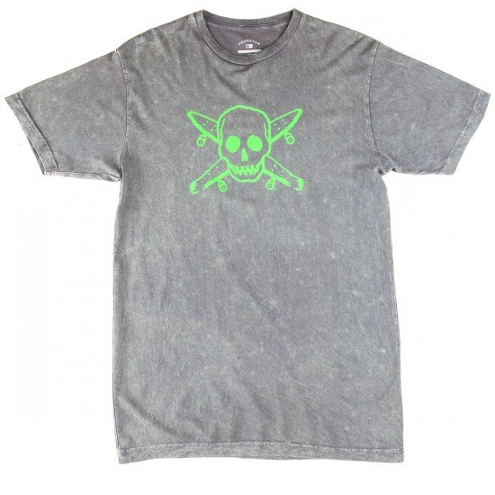 Fourstar Pirate Tie Dyed T-Shirt - Charcoal