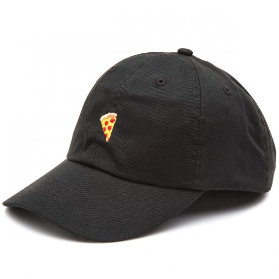 Pizza Emoji Delivery Hat - Black