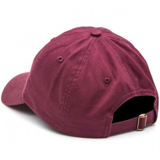 Pizza Emoji Delivery Hat - Burgundy