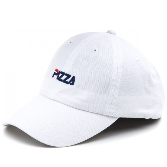 Pizza Fizza Polo Hat - White