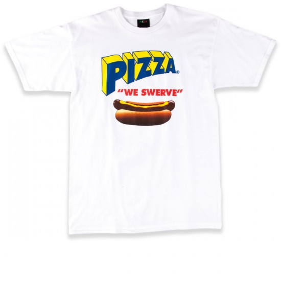 Pizza Swerve T-Shirt - White