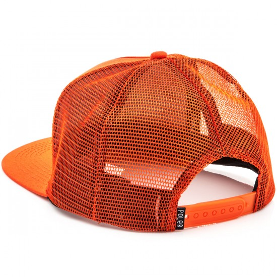 Poler 70'S Vibes Mesh Trucker Hat - Burnt Orange
