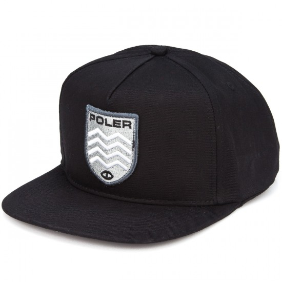 Poler D Patches Snapback Hat - Black