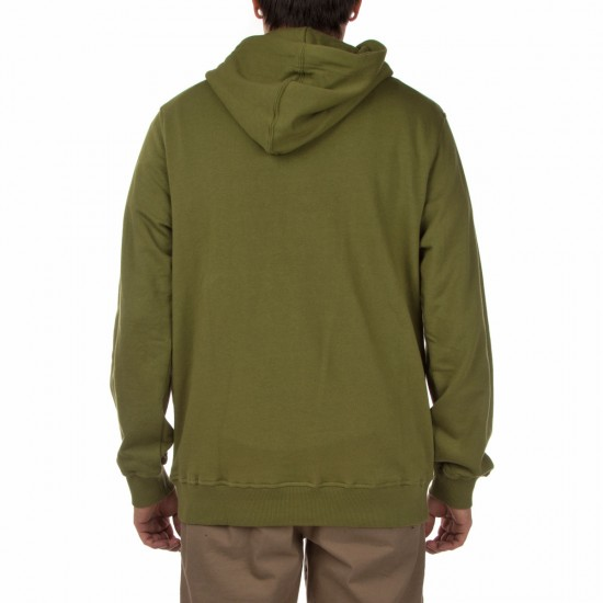 Poler Furry Font Pullover Hoodie - Mossy
