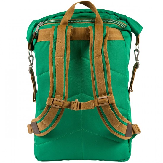 Poler Rolltop Backpack - Bright Green