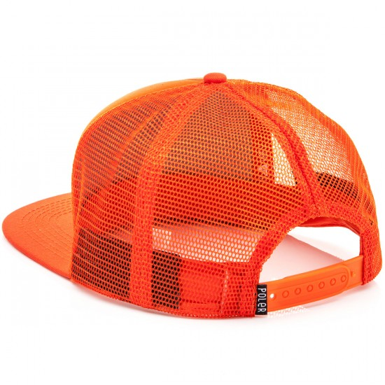 Poler Summit Mesh Trucker Hat - Burnt Orange