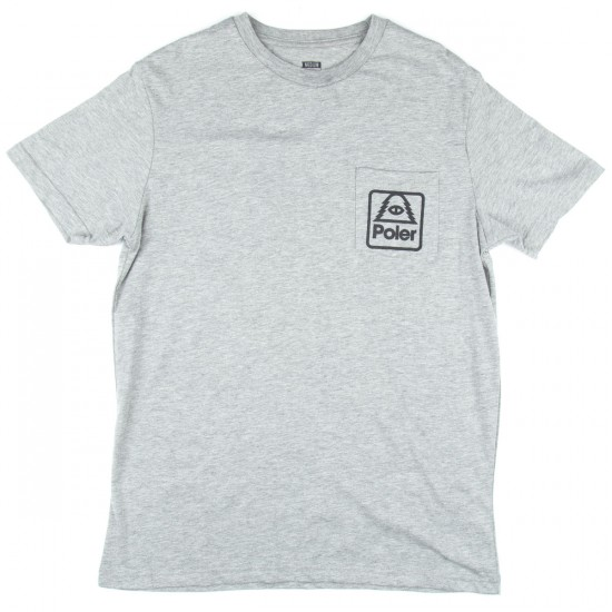 Poler TL Cyclops Pocket T-Shirt - Heather Grey