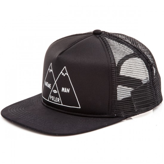 Poler Venn Mesh Trucker Hat - Black