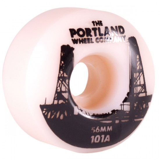 The Portland Wheel Co. Rounders Skateboard Wheels 56mm 101a - White