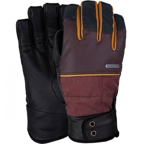POW Tanto Snowboard Gloves - Rust