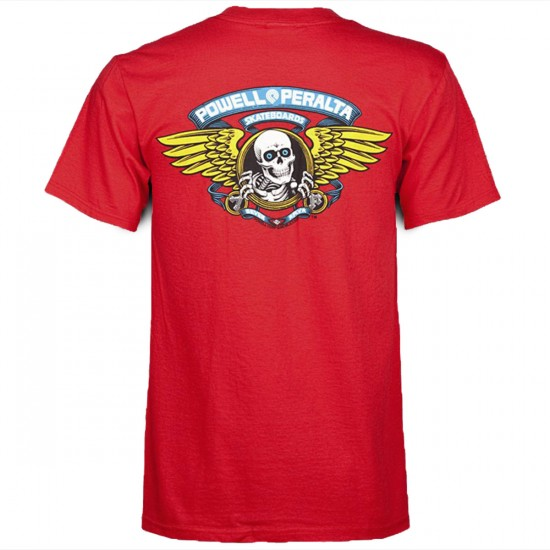 Powell-Peralta Winged Ripper T-Shirt - Red