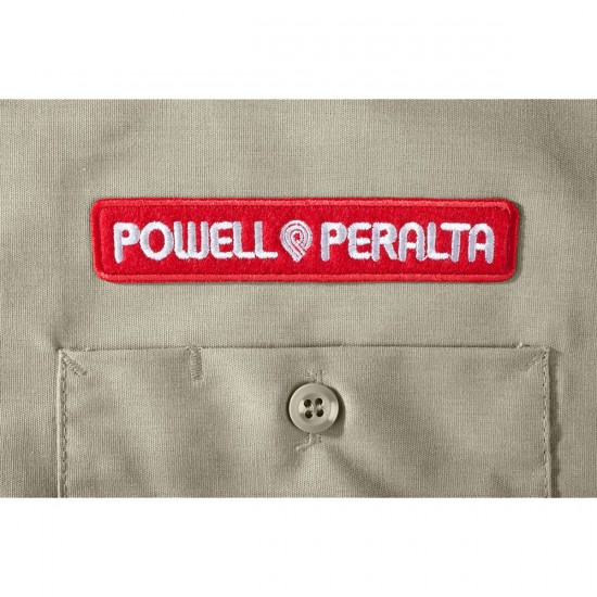 Powell-Peralta Winged Ripper Work Shirt - Khaki