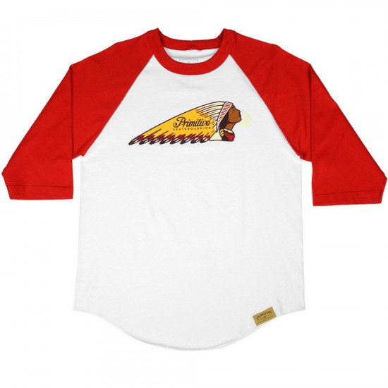 Primitive Apparel Heritage Raglan T-Shirt - White/Red