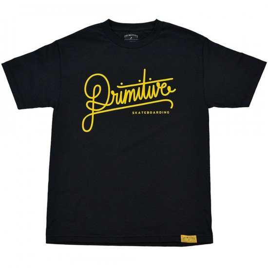 Primitive Apparel Longhand T-Shirt - Black