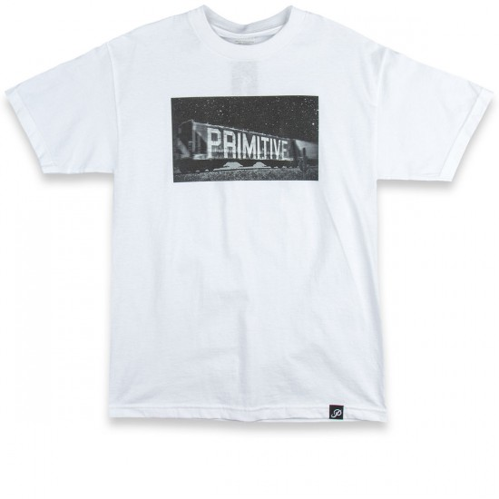 Primitive Box Car T-Shirt - White