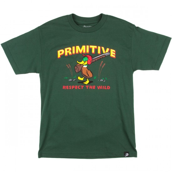 Primitive Duck Hunt T-Shirt - Hunter Green
