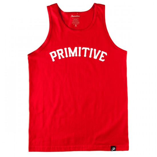 Primitive Slab Type Tank Top - Red
