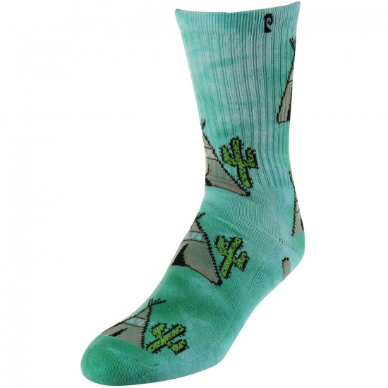 Psockadelic Peyotee Pee Socks - Light Blue/White Tie Dye