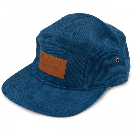 Push Culture 5 Panel Corduroy Hat - Blue