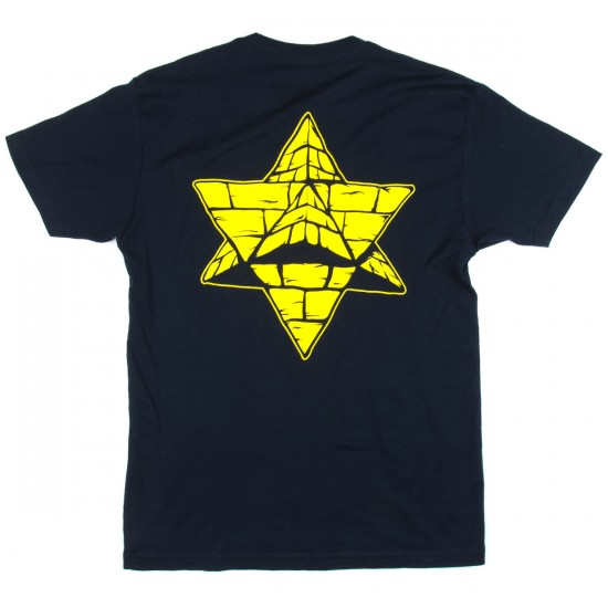 Pyramid Country Logo T-Shirt - Navy/Maize