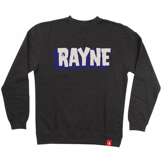 Rayne Longboards Giant Crew Neck Sweatshirt - Charcoal Heather