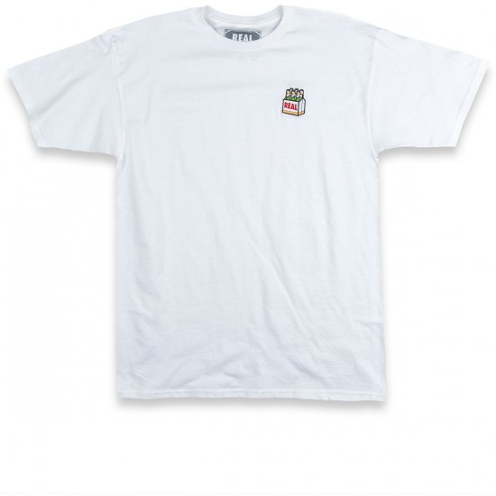 Real Beer Embroidered White T-Shirt - White