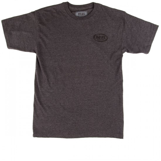 Real Old E Stacked T-Shirt - Charcoal Heather