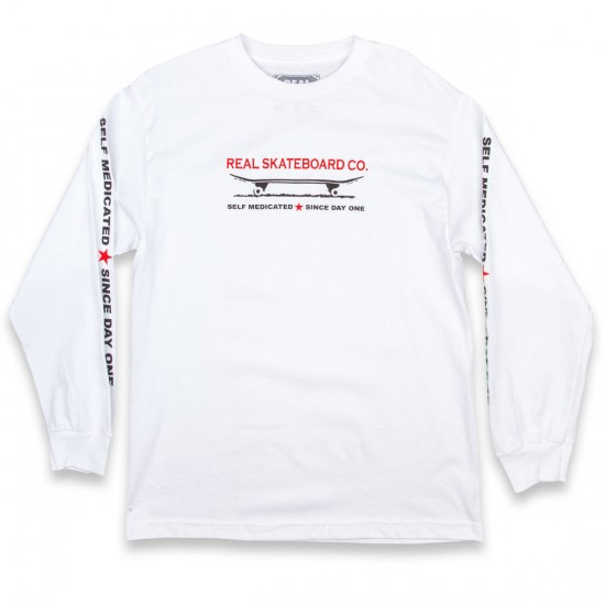Real Self Medicated Long Sleeve T-Shirt - White