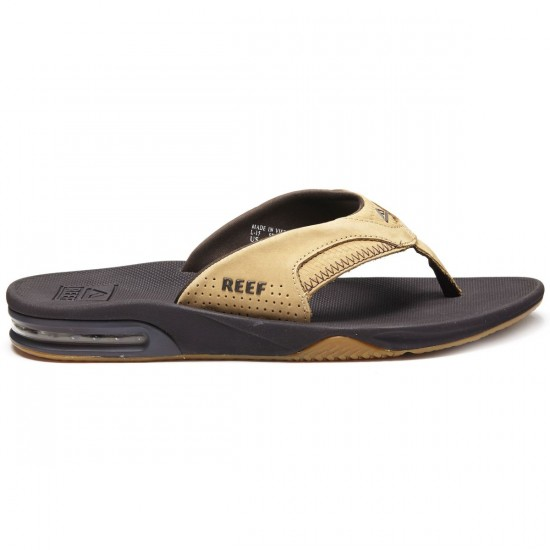 Reef Leather Fanning Sandals - Tan/Woven - 10.0