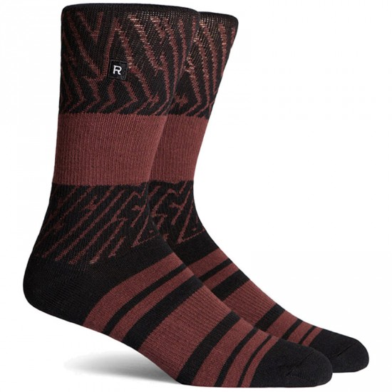 Richer Poorer Foliage Socks - Black
